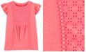 Carter's Little & Big Girls Coral Crocheted Eyelet Top
