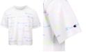 Champion Big Girls Allover Logo Script Boxy T-Shirt