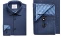 ConStruct Men's Slim-Fit Mini-Check Performance Stretch Cooling Comfort Dress Shirt