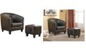Us Pride Furniture Salter Barrel Chair