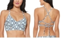 Jessica Simpson Snake-Print Bralette Bikini Top