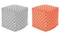 "Majestic Home Goods Ikat Dot Ottoman Pouf Cube 17"" x 17"""