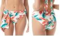 Vince Camuto Floral-Print Belted Bikini Bottoms