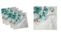 "Ambesonne Flower Bloom Set of 4 Napkins, 12"" x 12"""