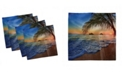 "Ambesonne Hawaiian Set of 4 Napkins, 12"" x 12"""