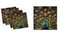 "Ambesonne Peacock Set of 4 Napkins, 12"" x 12"""