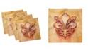 """Ambesonne Fleur De Lis Set of 4 Napkins, 12"""" x 12"""""""