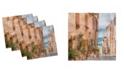 """Ambesonne Mediterranean Set of 4 Napkins, 12"""" x 12"""""""