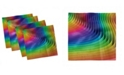 """Ambesonne Colorful Set of 4 Napkins, 12"""" x 12"""""""