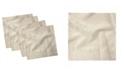 "Ambesonne Swirl Leaves Set of 4 Napkins, 12"" x 12"""
