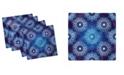 """Ambesonne Vintage-Like Snowflakes Set of 4 Napkins, 12"""" x 12"""""""