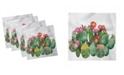 "Ambesonne Cactus Set of 4 Napkins, 12"" x 12"""