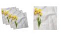 "Ambesonne Tulips on Board Set of 4 Napkins, 12"" x 12"""