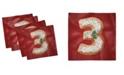 "Ambesonne Number Set of 4 Napkins, 12"" x 12"""