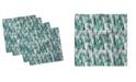 "Ambesonne Geometric Forest Set of 4 Napkins, 12"" x 12"""