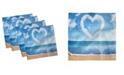 "Ambesonne Valentines Day Set of 4 Napkins, 12"" x 12"""