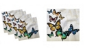 """Ambesonne Butterfly Set of 4 Napkins, 12"""" x 12"""""""
