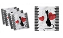 """Ambesonne Cats Set of 4 Napkins, 12"""" x 12"""""""