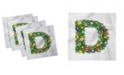 "Ambesonne Letter D Set of 4 Napkins, 18"" x 18"""