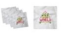 "Ambesonne Joy Set of 4 Napkins, 18"" x 18"""