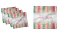 """Ambesonne New Year Set of 4 Napkins, 18"""" x 18"""""""