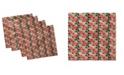 "Ambesonne Geraniums Set of 4 Napkins, 18"" x 18"""