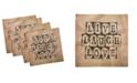 "Ambesonne Live Laugh Love Set of 4 Napkins, 18"" x 18"""