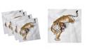 "Ambesonne Tiger Set of 4 Napkins, 18"" x 18"""