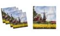 "Ambesonne Windmill Set of 4 Napkins, 18"" x 18"""