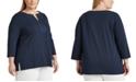 Lauren Ralph Lauren Plus-Size Jersey Elbow-Sleeve Top