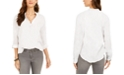 Style & Co Petite Textured Popover Top, Created for Macy's