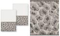 Linum Home Spots 2 Piece Washcloth Set