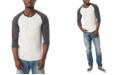 Alternative Apparel Men's Basic 3/4 Sleeve Raglan Henley Shirt