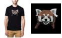 LA Pop Art Men's Premium Word Art T-shirt - Red Panda