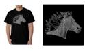 LA Pop Art Men's Word Art - Horse Mane T-Shirt