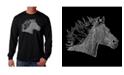 LA Pop Art Men's Word Art - Horse Mane Long Sleeve T-Shirt