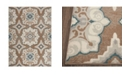 """Global Rug Designs Haven Hav11 Taupe and Blue 9'2"""" x 12'5"""" Area Rug"""