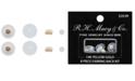 DRS 8-Pc. Set Earring Backs in White Plastic & 14k Gold