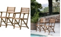 AB Home Folding Attached Chairs and Table