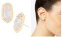 Kendra Scott 14k Gold-Plated Oval Stone Stud Earrings