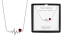 """Macy's Lab-Created Ruby (1/20 ct.t.w.) & Diamond Accent Heartbeat Pendant Necklace in Sterling Silver, 16"""" + 2"""" extender"""