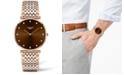 Longines Women's Swiss La Grande Classique De Longines Diamond (1/10 ct. t.w.) Two-Tone PVD Stainless Steel Bracelet Watch 37mm