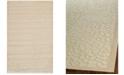 "Martha Stewart Collection Turtoise MSR4423A Creme 4' x 5'7"" Area Rug"
