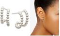 AVA NADRI Bead Double-Row Open Hoop Earrings