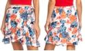 Roxy Juniors' Yellow Halo Ruffled Wrap Skirt