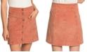 Roxy Juniors' Warning Sign Cotton Corduroy Mini Skirt
