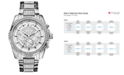 GUESS Men's Chronograph Crystal-Accent Stainless Steel Bracelet Watch 47mm U0291G1