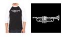 LA Pop Art Trumpet Men's Raglan Word Art T-shirt