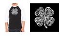 LA Pop Art Feeling Lucky Men's Raglan Word Art T-shirt