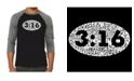 LA Pop Art John 3:16 Men's Raglan Word Art T-shirt